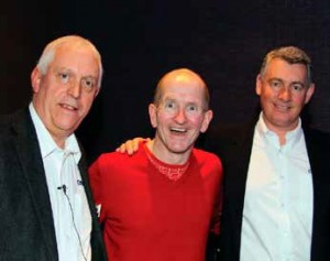 ABOVE: Neil Murray, left and Richard Way, right, pictured with Eddie The Eagle Edwards at the recent Certikin seminar.