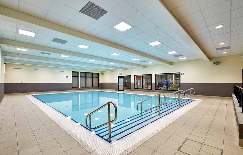 ABOVE: Birmingham's Sparkhill Pool and Fitness Centre boasts a six-lane, 25m pool with viewing areas