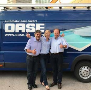 ABOVE: International automatic pool cover specialists, the Oase team is celebrating its 50th anniversary.