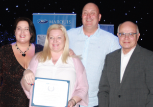 ABOVE: An Outstanding UK Performance Award for Marquis Spas selling team, Complete Spas.