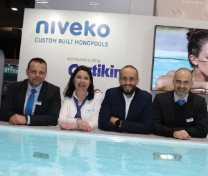 The Niveko team wowed with their SPATEX demonstration pool