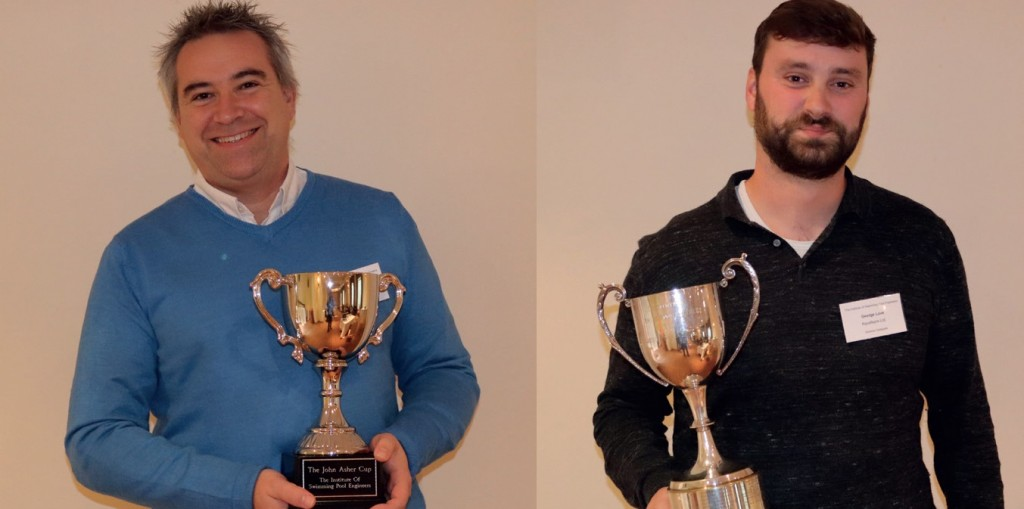 RECENT ISPE AWARD WINNERS included Bernoit Berbain, left, and George Love, right