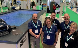 ONE OF THE BUSIEST STANDS at SPATEX 2020 was the Lighthouse Pools stand.