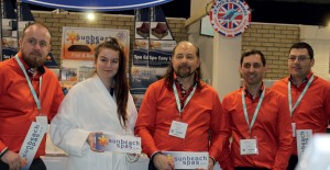 THE SUNBEACH SPAS TEAM pictured at this year's SPATEX show.