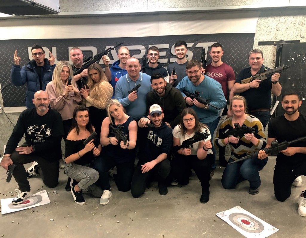 THE SUPERIOR TEAM enjoyed their visit to Budapest including a trip to a firing range.
