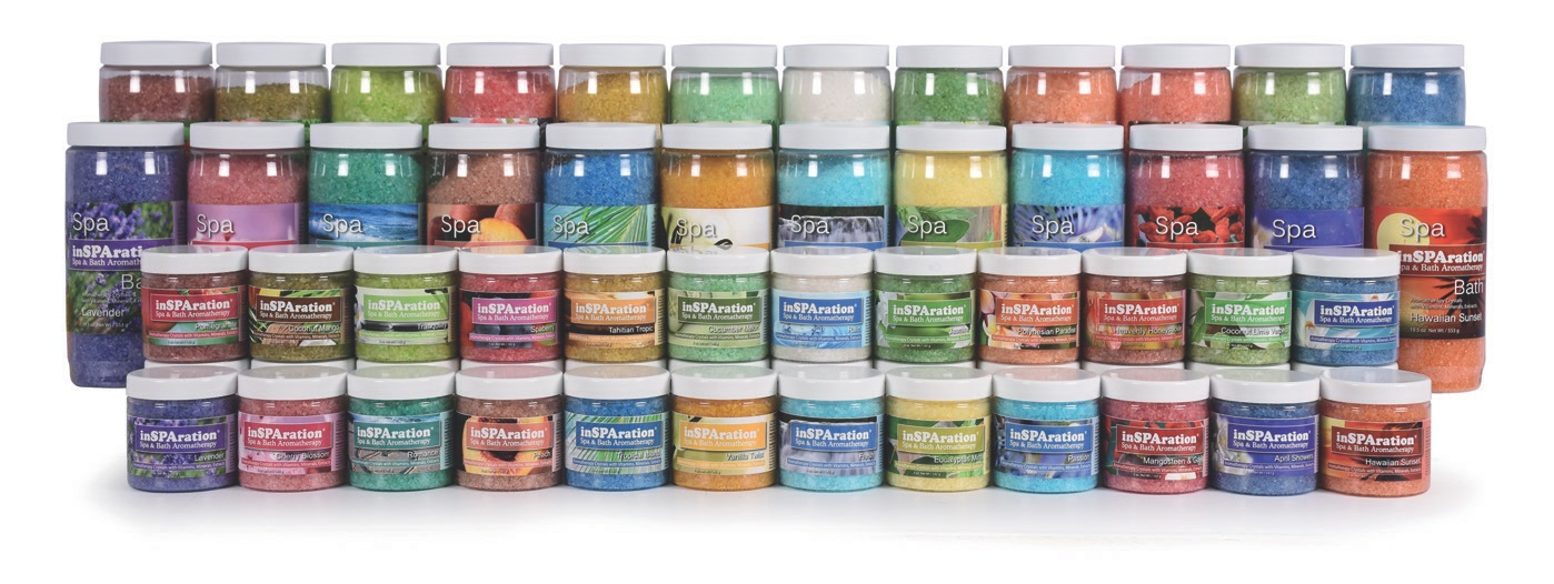 For add-on sales, InSPAration offers a choice of 36 fragrances including spa liquids and crystals