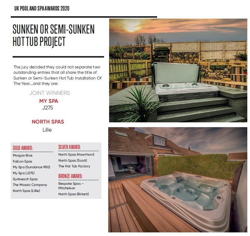 semi sunken hot tub project