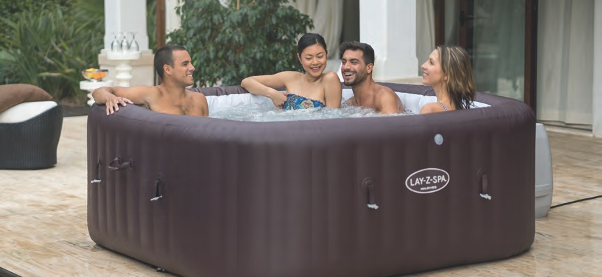 LAY-Z-SPA'S most sought-after product, the Maldives HydroJet Pro™ includes both the Airjet and HydroJet massage systems, colour-changing LED and inflatable seating and backrests.
