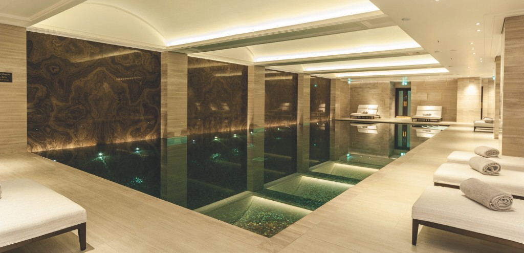LUXURIOUS POOLS in the APP portfolio include the outstanding Langley Hotel.