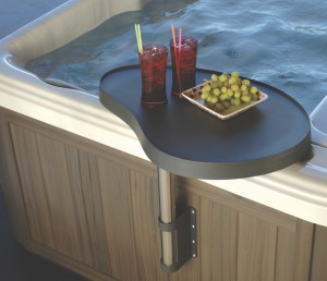 THE SPA CADDY brings the hot tub experience to another level. Pic. Aqua Spa Supplies.