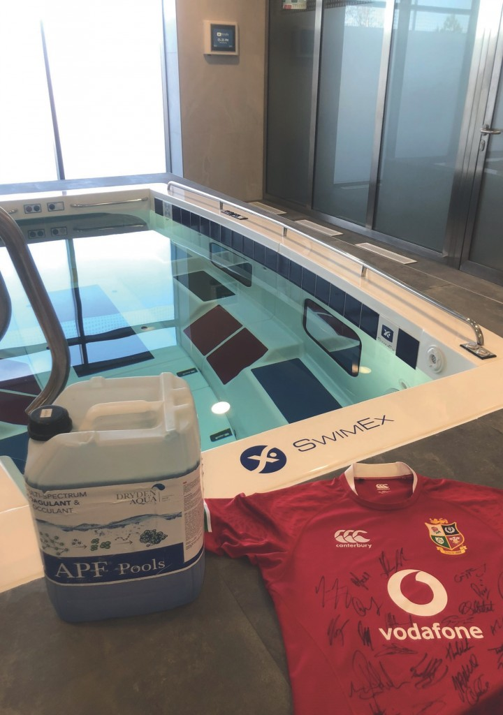 ONLY AFM FILTER MEDIA is good enough for British Lions rugby players using this Swimex hydrotherapy pool at The Strive Sports Academy in Jersey.